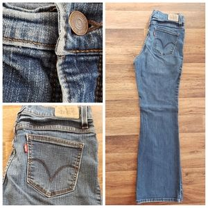 Levi's 548 flare jeans